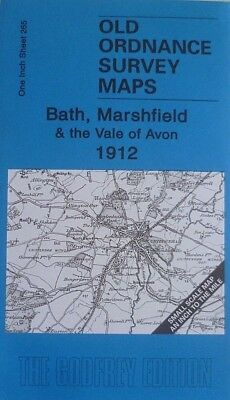 Old Ordnance Survey Maps Bath Marshfield & Vale of Avon 1912 Sheet 265 New