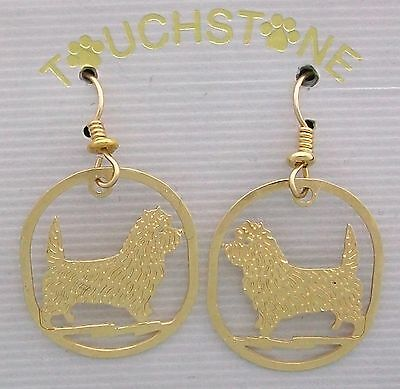 Cairn Terrier Jewelry Gold Post Earrings