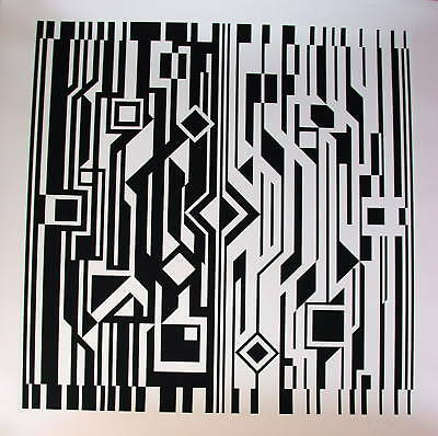 "Viktor Vasarely ""Aus der Serie NB Cinetique"""