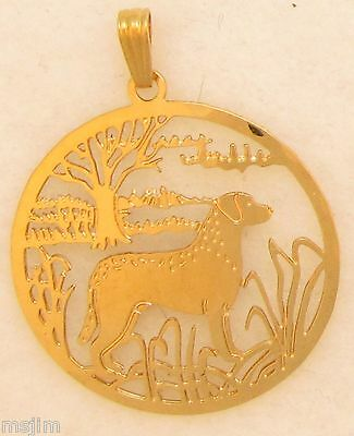 Chesapeake Bay Retriever Jewelry Gold Pendant by Touchstone