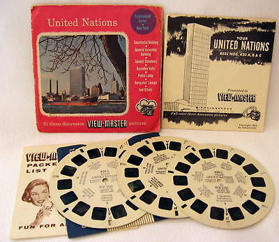 "VIEWMASTER ""UNITED NATIONS"" #420ABC"