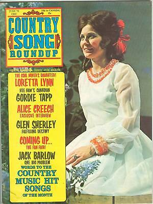 Loretta Lynn cover Country Song Roundup June 1972