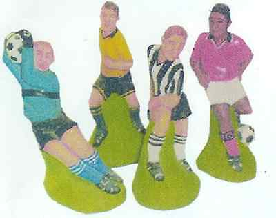 4 x SUPERCAST REF 0754 FOOTBALLERS REUSABLE LATEX MOULDS