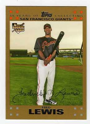 2007 Topps Gold BB #269 Fred Lewis Giants RC BV$5