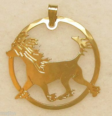 Chinese Crested Jewelry Gold Pendant or Charm