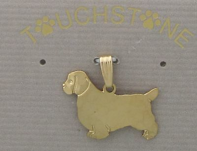 Clumber Spaniel Jewelry Gold Pendant by Touchstone