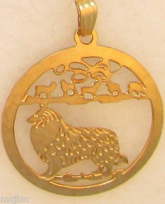 Collie Jewelry Gold Pendant by Touchstone