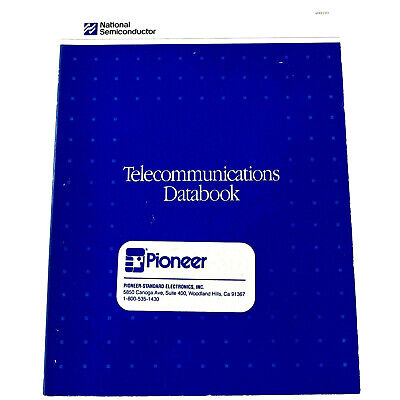 NATIONAL SEMICONDUCTOR 1990 TELECOMMUNICATIONS DATABOOK Reference Manual #400110
