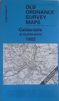 OLD ORDNANCE SURVEY MAP CALDERDALE HUDDERSFIELD & PLAN ALMONDBURY 1902  S77  New