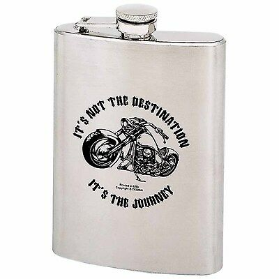 8oz Stainless Steel Flask IT'S NOT THE DESTINATION Logo KTFLASK8ND $24