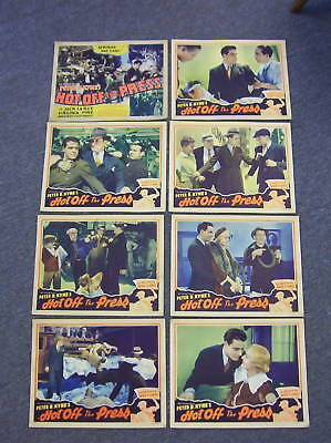 1935 HOT OFF THE PRESS Lobby Card Set, Newspaper Story