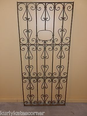 Antique 100+ Year Old French Wrought Iron Gate