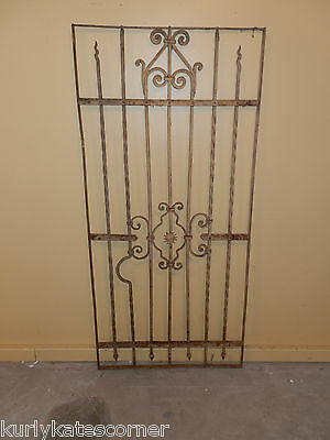 Wonderful  100+ Year Old French Wrought Iron Gate One Of A Kind!!!