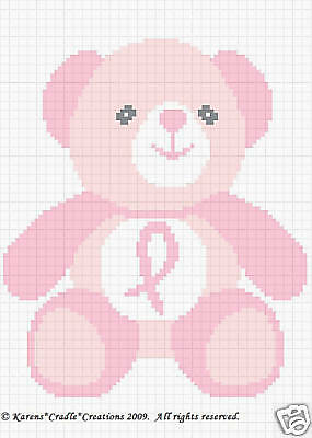 Crochet Patterns BREAST CANCER AWARENESS ANGEL afghan pattern*EASY