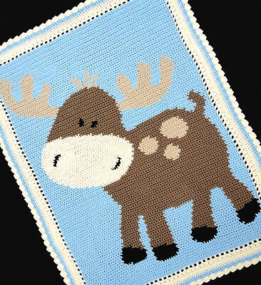 Crochet Patterns- MOOSE Baby Afghan Graph Pattern *EASY
