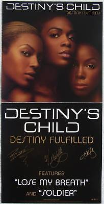 DESTINY'S CHILD Fulfilled PROMO 2 Sided Poster BEYONCE