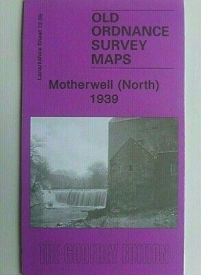 Old Ordnance Survey Detailed Maps Motherwell Noth Scotland 1939 Godfrey Edition