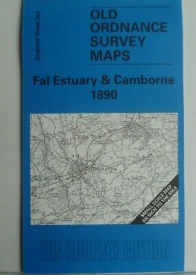 OLD ORDNANCE SURVEY MAP FAL ESTUARY & CAMBORNE 1890 Godfrey Edition New