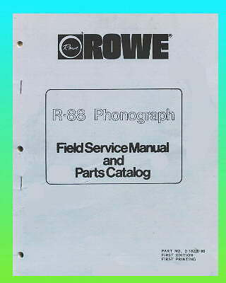 Rowe R-88 Jukebox Service & Parts Manual