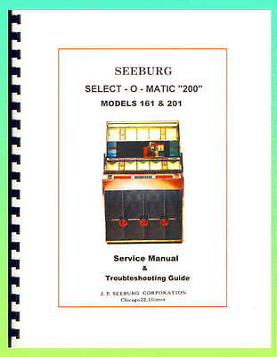 Seeburg 161 & 201 Jukebox Service Manual