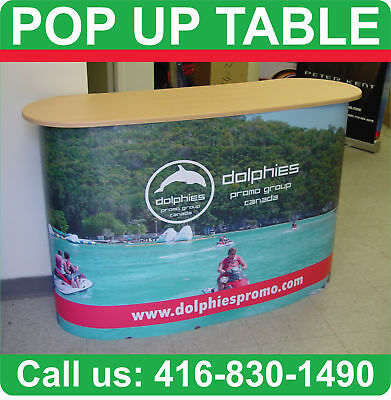 Trade Show Counter Podium Pop Up Table + PRINTED WRAP