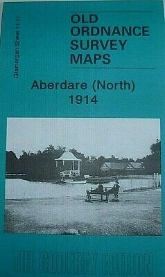 OLD ORDNANCE SURVEY MAPS ABERDARE (NORTH) GLAMORGAN 1914 Godfrey Edition New