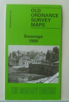 OLD ORDNANCE SURVEY MAPS SWANAGE DORSET 1900 Godfrey Edition New