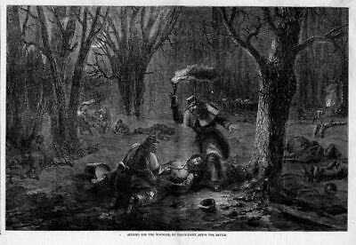 Civil War Battle, Looking For Wounded By Torch-Light