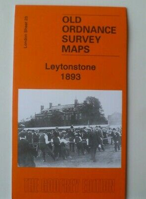 Old Ordnance Survey Detailed Maps Leytonstone London 1893 Godfrey Edition New