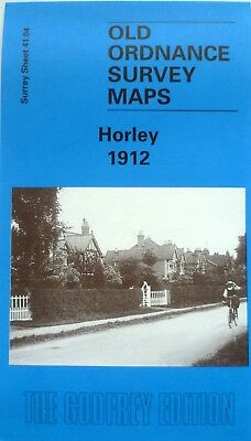 OLD ORDNANCE SURVEY DETAILED MAPS HORLEY SURREY 1912 Godfrey Edition New