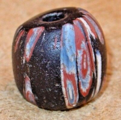 Ancient Black Islamic Mandrel Wound Glass Bead Found In Mali, African Trade