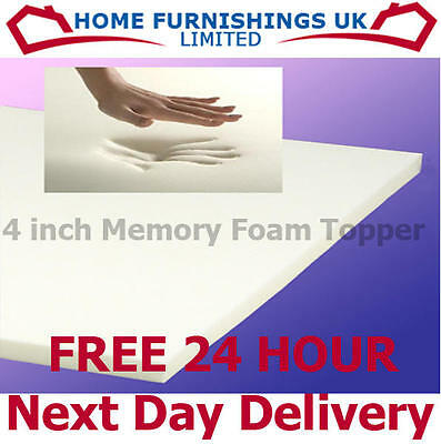 "4ft 6"" DOUBLE 4"" inch thick MEMORY FOAM MATTRESS TOPPER"