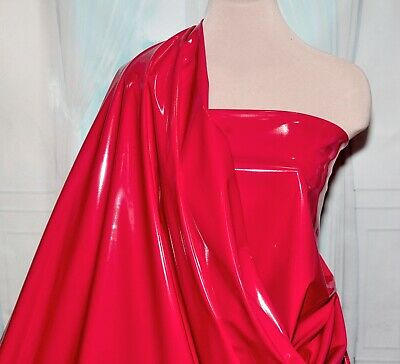 Pleather  Stretch Fabric Shiny Red By The Yard Pvc , Costumes, Cosplay,