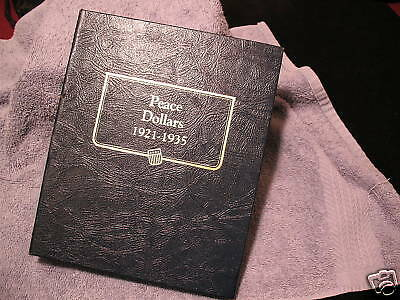 Peace Dollar Set In Whitman Book With The 1921-Nice