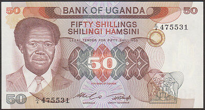 UGANDA  -  50  SHILLINGS   1985   -  P 20   Uncirculated Banknotes