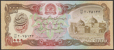 AFGHANISTAN  1000  AFGHANIS 1991  P 61c - LOT 2  PCS  Uncirculated Banknotes
