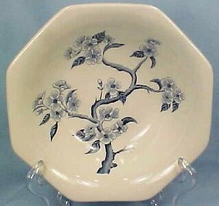 Blue & White DYNASTY IRONSTONE CEREAL SOUP BOWL Meakin