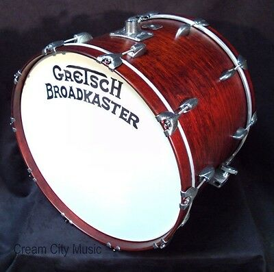 Gretsch USA NOS Broadkaster 16 x 22 Bass Drum Satin Walnut Lacquer 22""