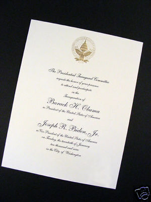 Official & Authentic Barack Obama Inaugural Invitation 2009 With Envelope!