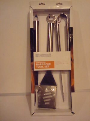 Kenmore BBQ 3 Piece All Stainless Steel Tool Set NIB