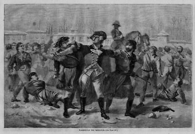 George Washington The Mediator Breaking Up A Fight During Revolutionary War