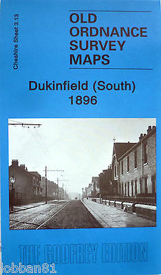 OLD ORDNANCE SURVEY DETAILED MAPS DUKINFIELD SOUTH CHESHIRE 1896 Godfrey Edition