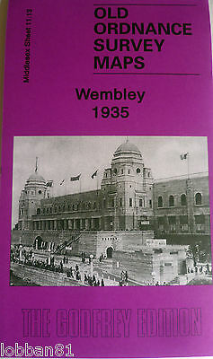 OLD ORDNANCE SURVEY MAP WEMBLEY MIDDLESEX 1935 SHEET 11.13 New Map