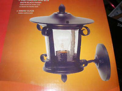 Portfolio Outdoor Wall Fixture Matte Black Finish NEW