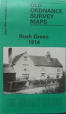 Old Ordnance Survey  Maps Rush Green near Romford Essex 1914  Godfrey Edt. Offer