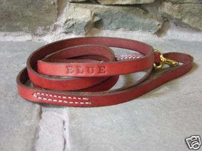 Leather Dog Leash Lead Personalized FREE Amish Made 5'