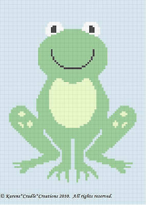 Crochet Patterns - CUTE FROG Baby Afghan Pattern *EASY*