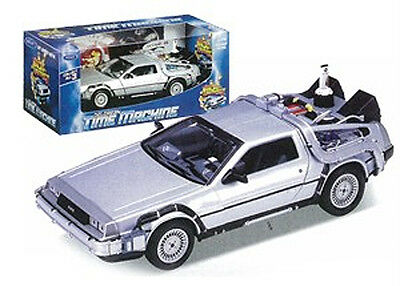 *NEW* Back to the Future 2 1:24 Scale Die-Cast DeLorean Car Model Time Machine