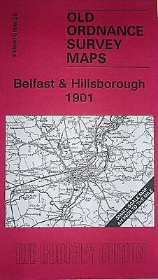 Old Ordnance Survey Maps Belfast & Hillsborough Ireland 1901 Sheet 36 Godfrey Ed