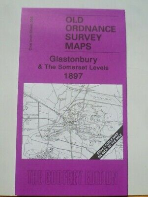 Old Ordnance Survey Maps Glastonbury Somerset Levels & Map Evercreech 1897 S 296